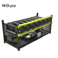 S SKYEE Open Air Mining Rig Stackable Dual Power Frame Case With 7 Fans For 8