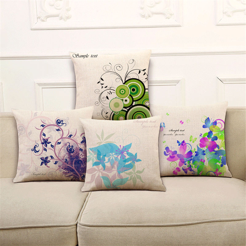 P Flame Back Cushion Pillows For Chairs Flower Rattan Pattern Linen Cotton  Breathable Black Sofa Cushions Donut Cushion In Cushion From Home U0026 Garden  On ...