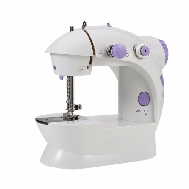 US Plug Easy To Use Mini Electric Household Sewing Machine Dual Beauteous Easy To Use Sewing Machines