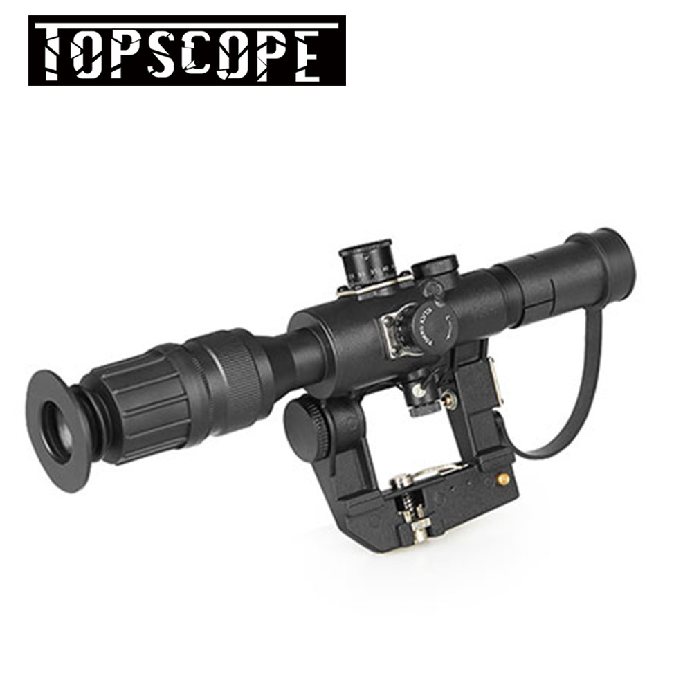 Aim Optic Sight Tactical Rifle scopes Red Illuminated 4x24 PSO-1 Type Scope for Dragonov SVD Sniper AK Series Riflescope red illuminated 4x24 pso 1 type scope for dragonov svd sniper rifle series ak riflescope hunting trail rifle scopes