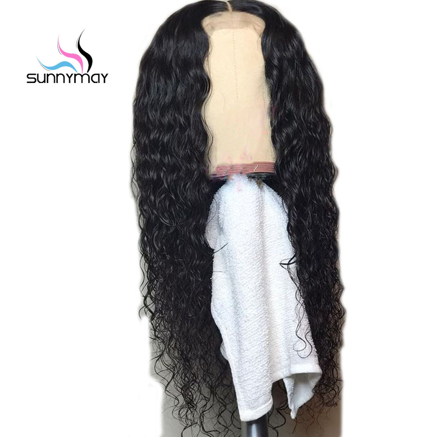 Sunnymay Curly Human Hair Wigs Bleached Knots Natural Black Brazilian Lace Front Wigs With Baby Hair Remy Wigs For Women