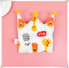Cotton Infant Cute Crown Shape Pillow Prevent Flat Head Newborn Baby anti roll Cushion Bedding Baby Shaping Pillow Cartoon(China)
