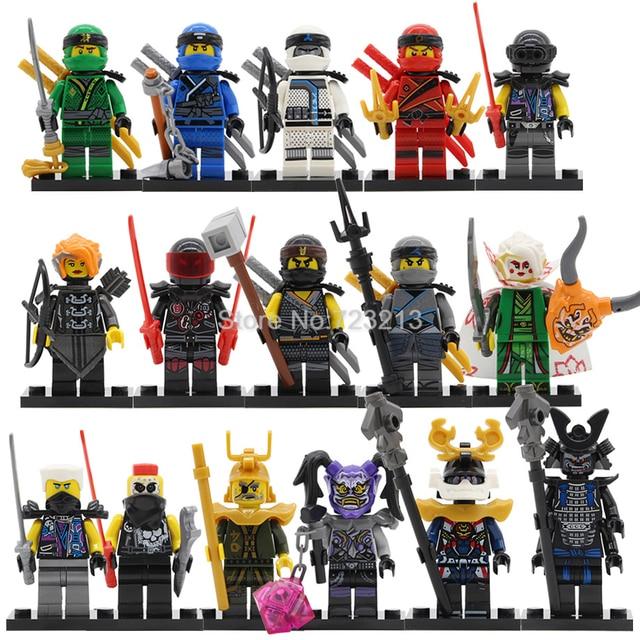 Única Venda Ninjagoed Figura Conjunto Cole Jay Kai Zane Misako Nya Senhor Garmadon. E Harumi Samurai X Blocos de Construção conjunto de Brinquedos