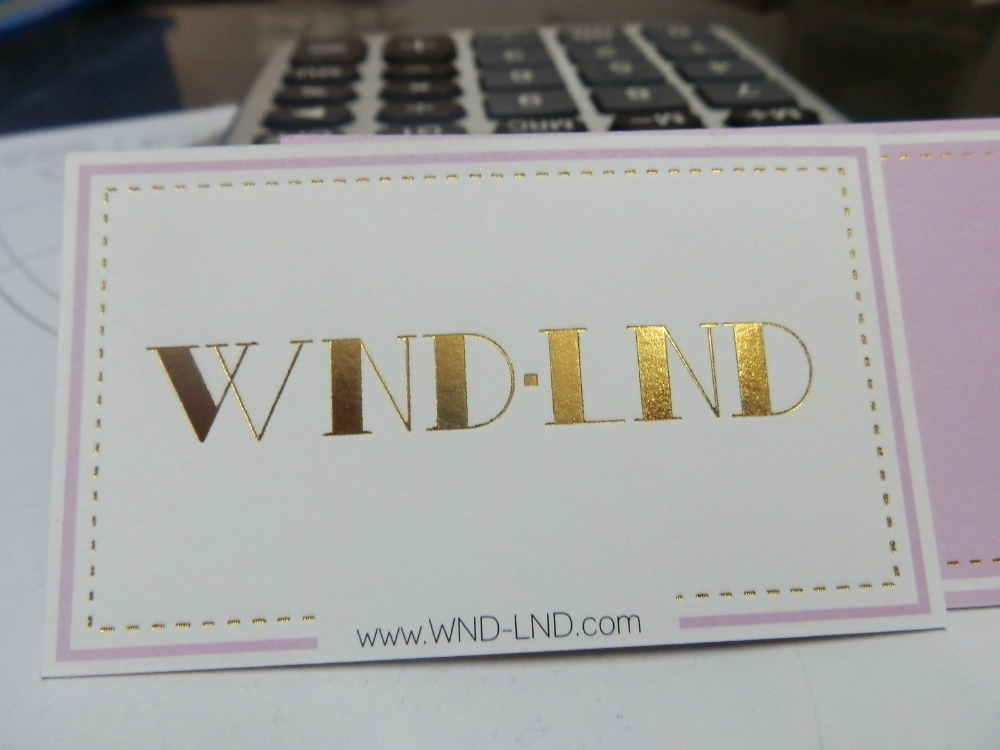 Us 95 0 Hohe Qualität Goldene Folie Heißer Stanzen Logo Papier Visitenkarte Druck Auf Weiß Papier Karte In Visitenkarten Aus Büro Und Schulmaterial
