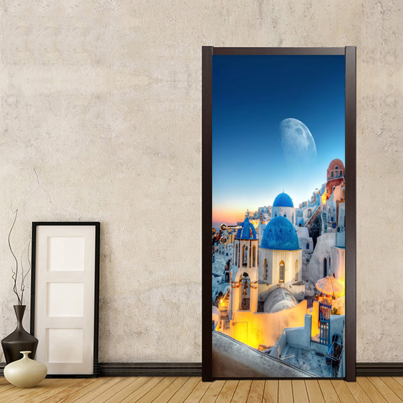 Photo Wallpaper 3D Mediterranean Architecture Beautiful Murals Living Room Bedroom Study Theme Hotel Door Sticker PVC Wall Paper