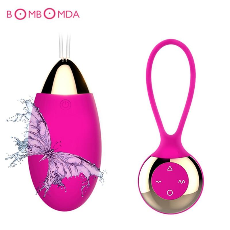 Jumping Egg Vibrator 7 speed 10 frequency Wireless Remote G Spot Clitoris Stimulation Vagina Massage Vibrator Sex Toys Women