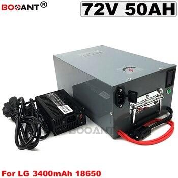5000 Вт 72В 50Ah Электрический велосипед батарея для LG 18650 клеток 20S 15P 72В Железный корпус скутер батарея с дисплеем напряжения и емкости