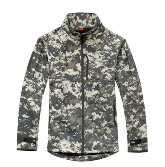 ФОТО ACU Camo TAD V 4.0 Men Outdoor Hunting Camping Hiking Windproof Polyester W/ fleece Lining Jacket Winter Softshell Warm Coat
