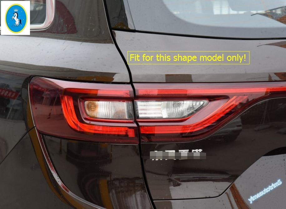 Steel Rear Tail Light Lamp Eyeborw Cover Trim 2pcs For BMW X6 F16 2015-2017