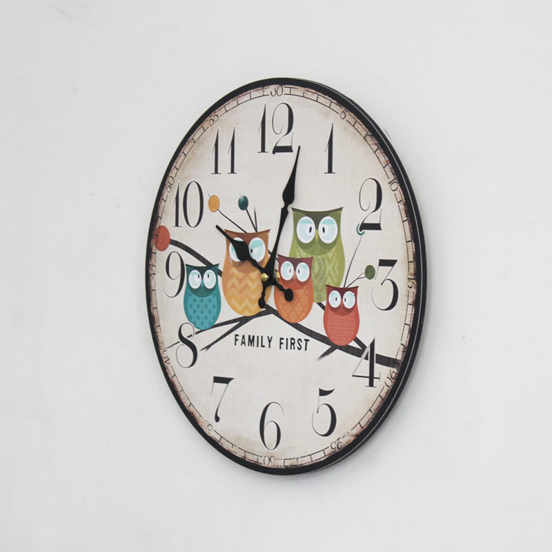 wall clock for office.  clock new modern design owl vintage rustic chic home office cafe decoration art  large wall clockin clocks from u0026 garden on aliexpresscom  alibaba  with clock for