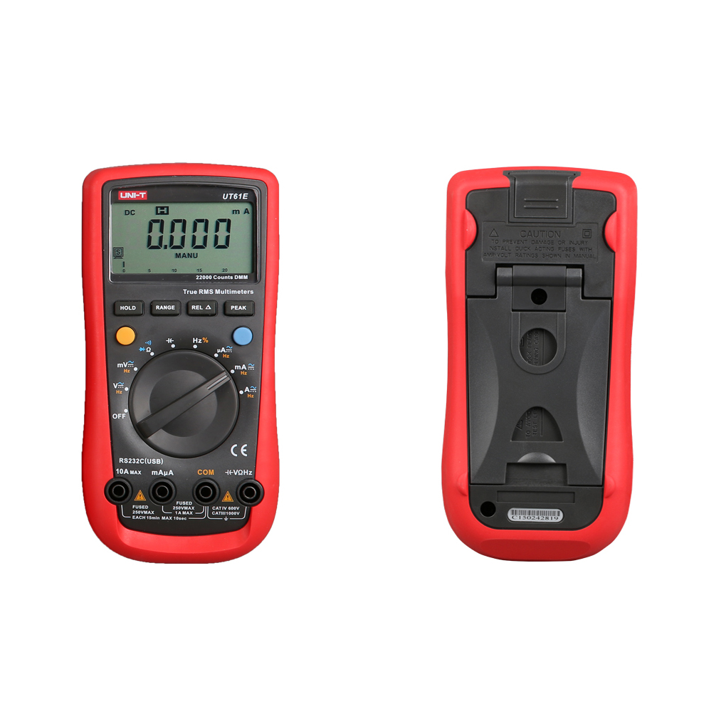 UNI-T UT61E Modern Digital Multimeters Auto Range True RMS Voltage Current Resistance Capacitance Tester my68 handheld auto range digital multimeter dmm w capacitance frequency