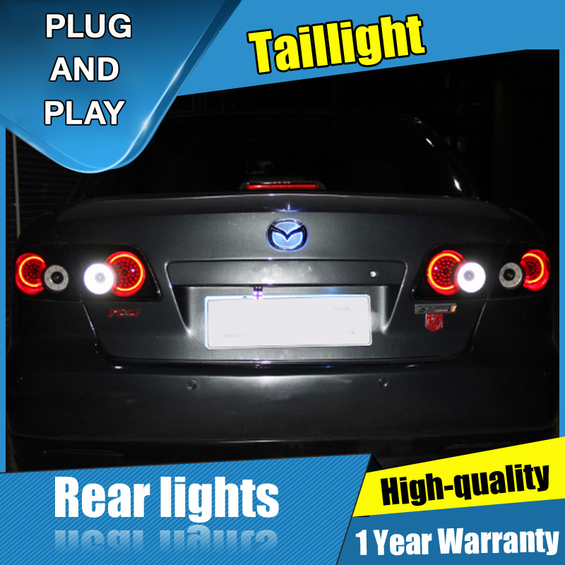 4PCS Car Styling for <font><b>mazda</b></font> <font><b>6</b></font> <font><b>LED</b></font> Taillights 2003-2008 for <font><b>mazda</b></font> <font><b>6</b></font> <font><b>LED</b></font> Tail Lamp+Turn Signal+Brake+Reverse <font><b>LED</b></font> <font><b>light</b></font> image