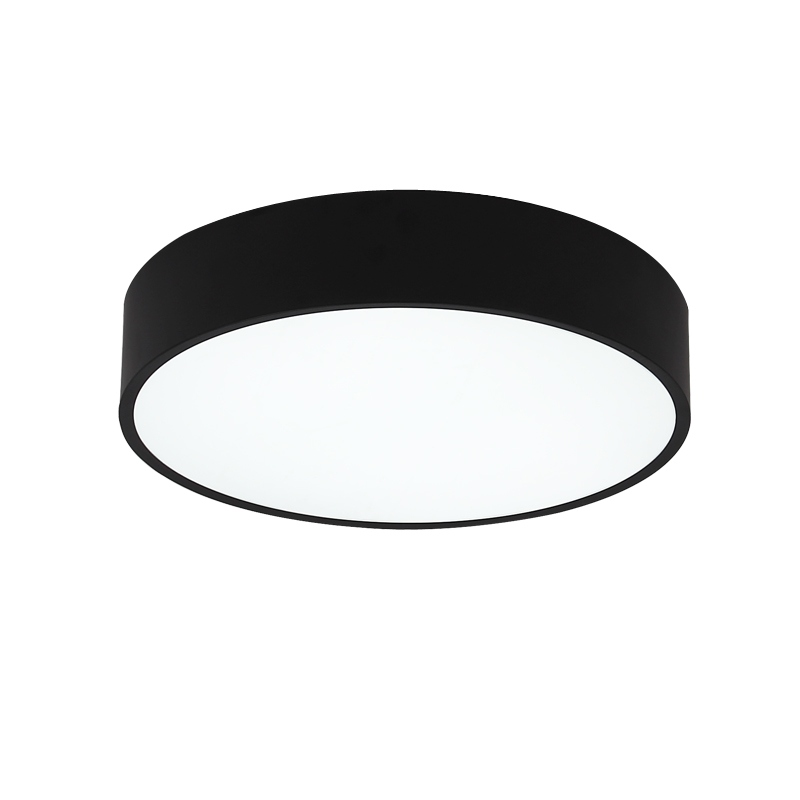 Friendly Wongshi Modern 2.4g Ir Remote Control Black White Iron Led Ceiling Lamp Surface Mounted Panel Simple Ceiling Light Always Buy Good
