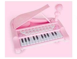 Dzieci oświecenia wielofunkcyjny elektroniczny fortepian instrument muzyczny może być podłączony do telefonu komórkowego mikrofon