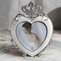 5 inch Heart shaped Home Decoration Photo Frame, Metal Zinc Alloy Photo Frame, Occasion Anniversary Wedding Gift Photo Frame
