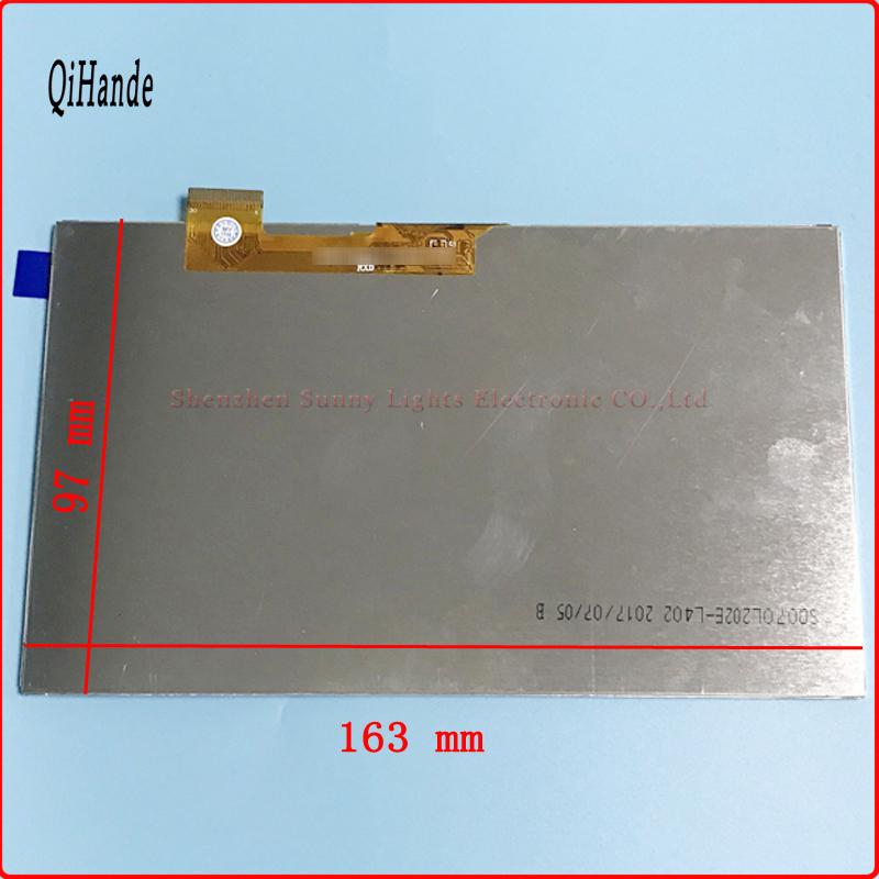 163* 97mm 30 pin New LCD display Matrix For 7 Irbis TZ42 3G Tablet inner TFT LCD Screen Panel Lens Module Glass Replacement new 7inch lcd display matrix for irbis tx34 3g tablet inner lcd screen panel module replacement free shipping