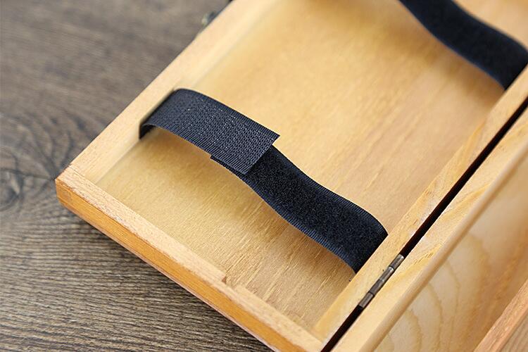 lapis de papelaria armazenamento joias caixa lapis madeira macica 02