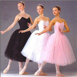 New Long Adult Children Ballet Tutu Klänning Party Practice Kjolar Kläder Mode Dance Kostymer
