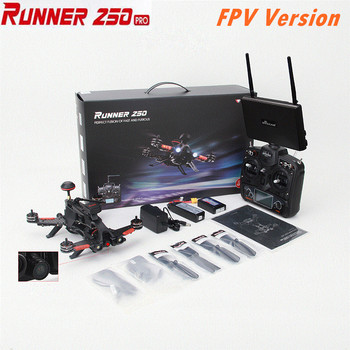 (FPV Version) Walkera Runner 250 PRO + DEVO 7 + 5.8G FPV Monitor GPS RC Racing Drone with Camera RTF drone x pro