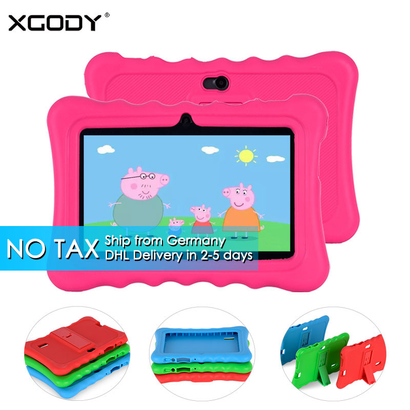 DHL Delivery NO TAX XGODY T702 Android Tablet PC 7 Inch Quad Core 8G ROM Children Tablets for Kid Bluetooth WiFi OTG Parent Mode no–talk therapy for children