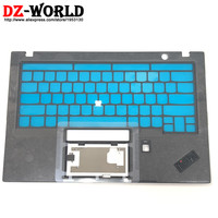 New/Orig for Lenovo ThinkPad X1 Carbon 6th 20KH 20KG Keyboard Bezel Palmrest Cover w/o Touchpad w/ Fingerprint Hole AM16R000300