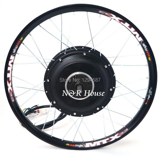 Superior 48v 96v 5kw Electric Bike Motor Wheel Suitable For Standard Bicycle Disc  Brake And Single