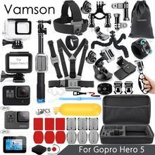 Vamson pour Gopro Hero 7 6 5 Kit daccessoires Super ensemble boîtier étanche monopode 3 voies pour Go pro hero 6 5 Vamson VS09