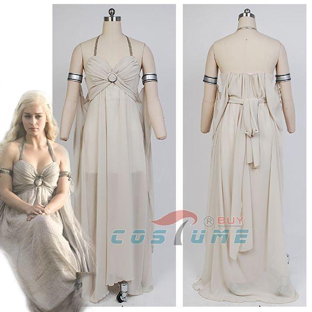Une chanson de glace et de feu jeu de trônes Daenerys Targaryen robe Halloween Cosplay Daenerys Targaryen Costume