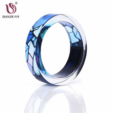 Danze 2017 Steampunk Style Resin Rings For Couple Handmade Punk Vintage Knuckle Finger Resin Women Ring Anillos Bagues Wholesale