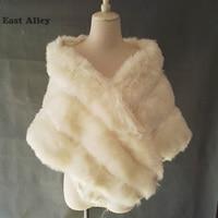 New Grey Pink Ivory Women S Bridal Wedding Faux Fur Shawl Cape Stole Wrap Shrug Coat