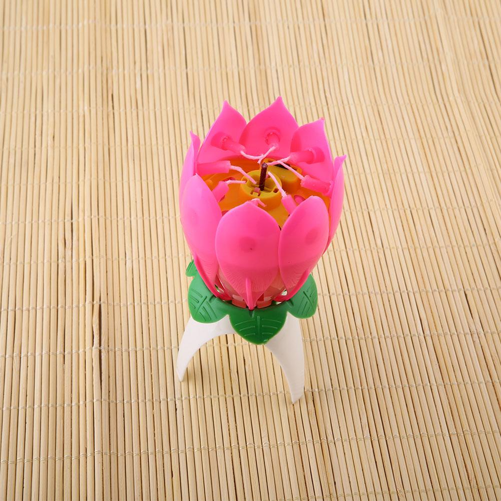 Aliexpress Buy Musical Birthday Candle Romantic Musical Lotus