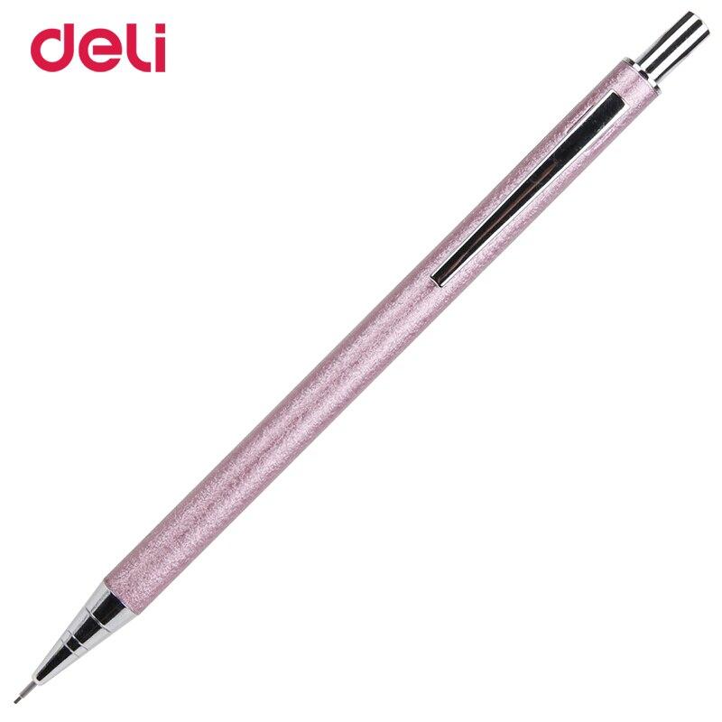 Автоматический механический карандаш Deli, 1 шт., карандаш для активности, металлическая ручка 0,5/0,7 мм, канцелярские принадлежности для студен...