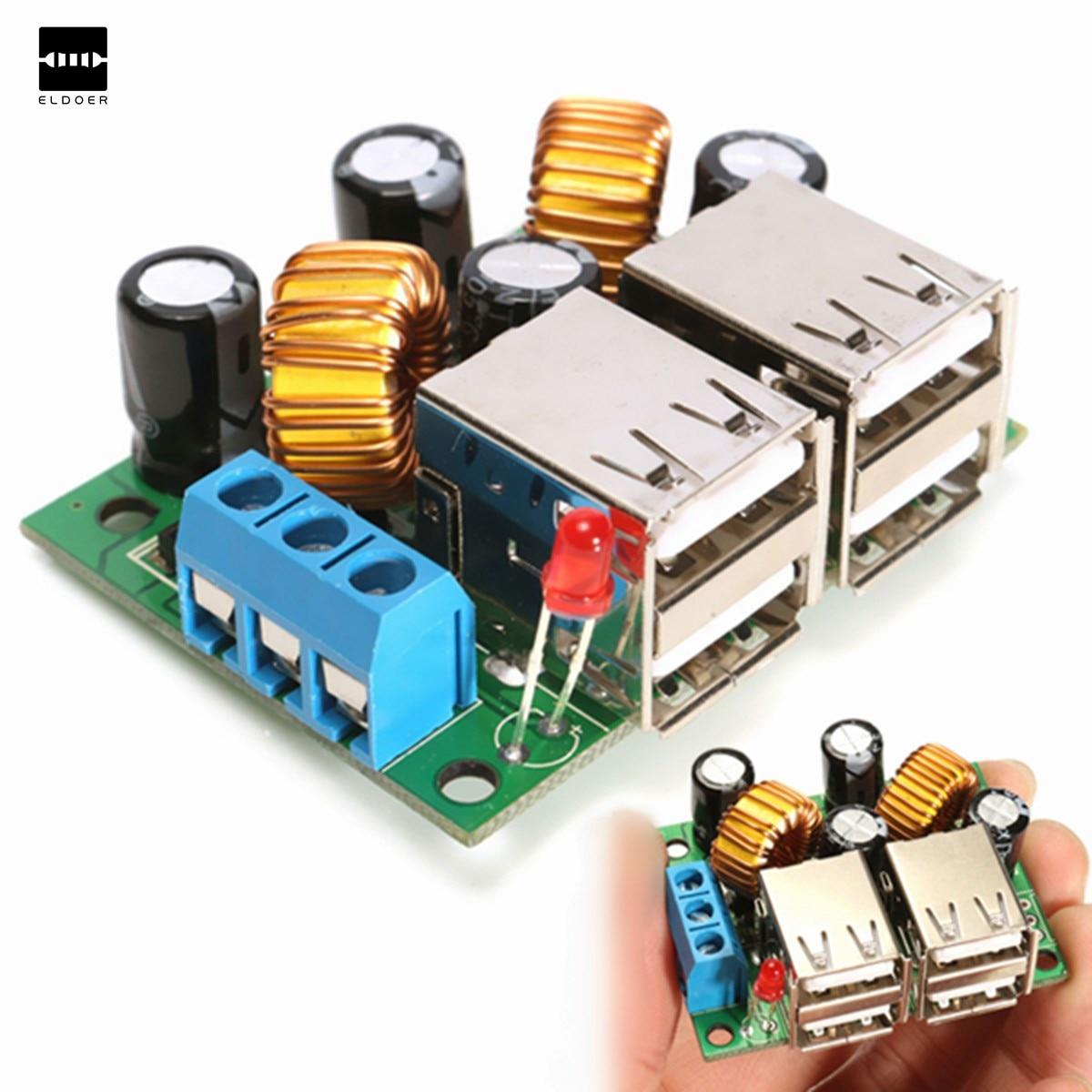 USB Step down Power Supply Module New DC 12V 24V 40V to 5V 5A Copper US