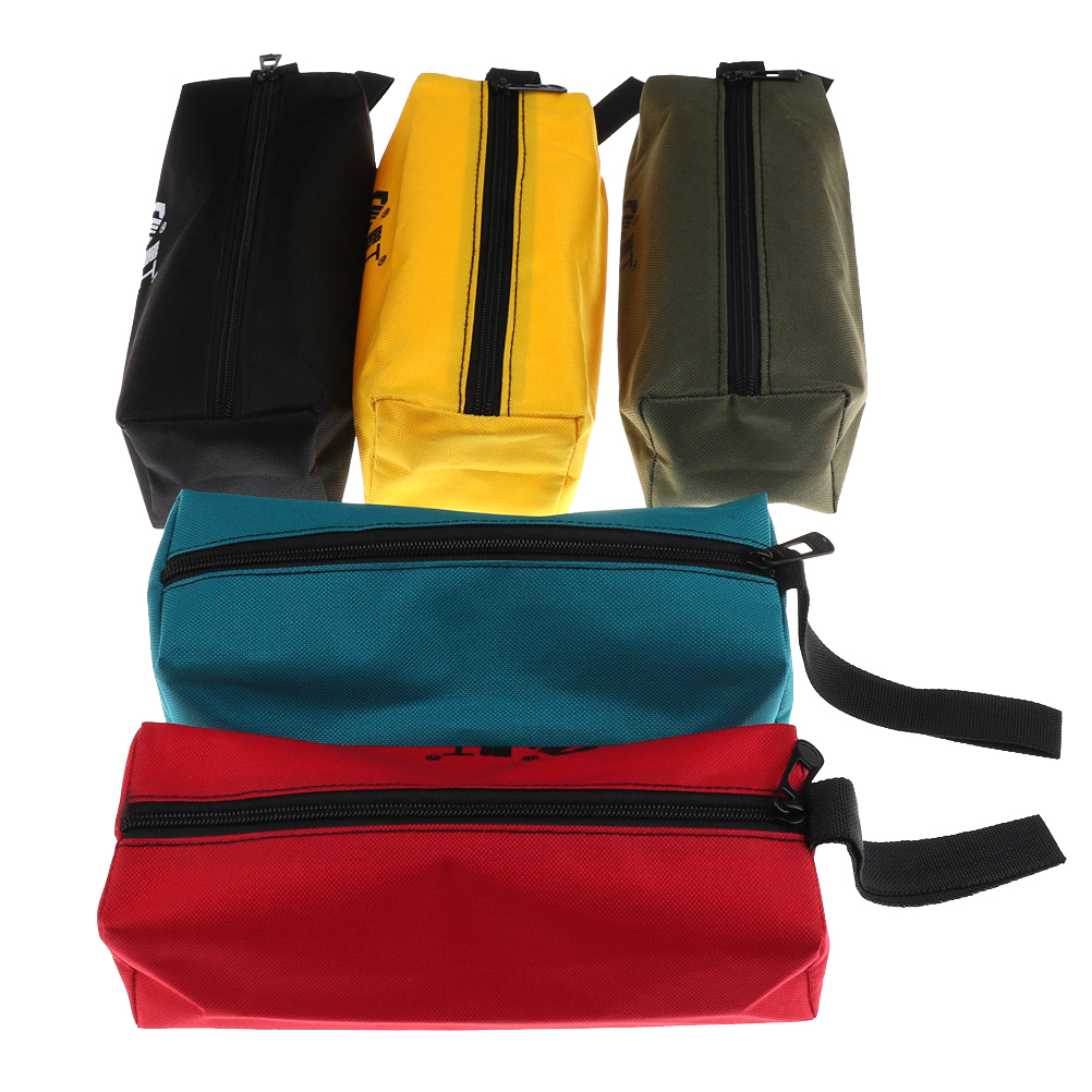 Tool Bags Oxford Canvas Waterproof Storage Hand Tool Bag Screws Nails Drill Bit Metal Parts Fishing Travel Makeup Organizer Pouch Bag Case