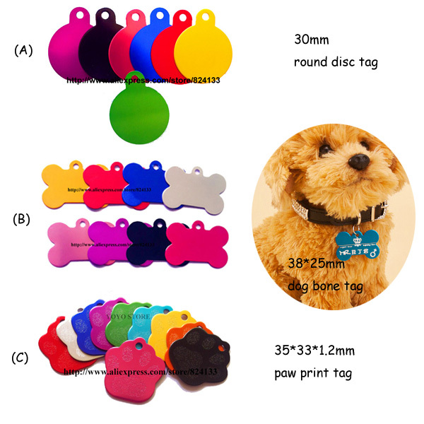 US $168 0  600pcs/lot cheap wholesale pet supplies pet tags,mix design dog  name tags,aluminum id tag pet products,free shipping-in ID Tags from Home &