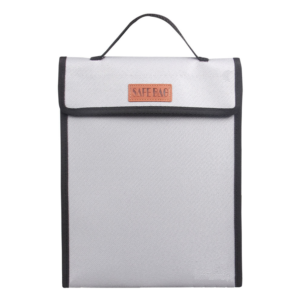 Portable Fireproof Document Bag Holder Pouch Home Office Safe Bag Fire Water Resistant File Foldable Safe Storage Tool Bag