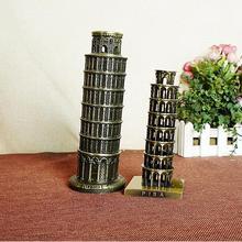 Artesanía de Metal Torre Inclinada de Pisa decoración modelo de la arquitectura Italiana creativo simular decoración modelo de construcción