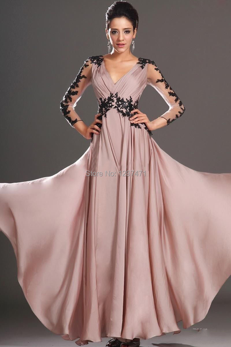 Dress nightgown picture more detailed picture about 2014new 2014new stretch satin cap long sleeve appliques lace backless evening formal party ball gown prom sheer ombrellifo Images
