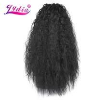 Lydia Synthetic 20-24 Kinky Curly Hair With Two Plastic Combs Ponytail Extensions All Colors Available
