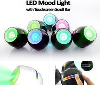 Creative 256 Colors LED Mood Lighting With Touchscreen Scroll Bar Black256 Color LED Mood Light With