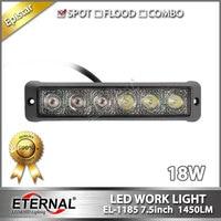 10 pcs 18 W mini barra de luz fino navio navio iate barco marinha luz de trabalho LED lâmpada de trabalho motocicleta automotivo driving farol