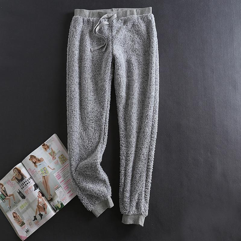 Winter Pajamas Sleepwear Women Pijama Plush Pants ...