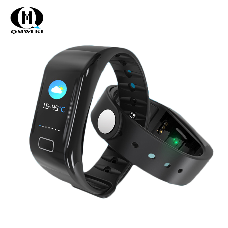 Image 2 - New Smart Watch Heart Rate Monitor Wristband Blood Pressure Sleep Fitness Tracker Smartwatch Men Sport Watch for ios android-in Smart Wristbands from Consumer Electronics
