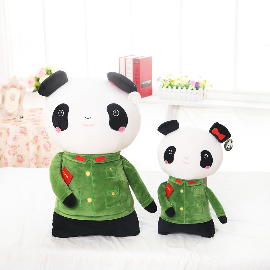 Legitimate Military Couples Panda Plush Toy Doll Doll Wedding Gifts