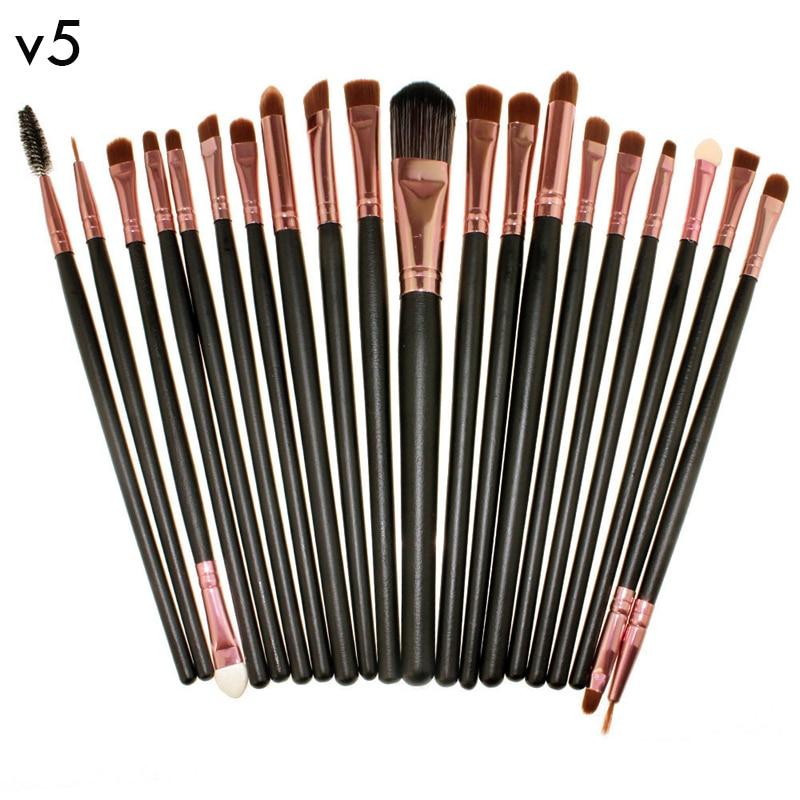 V5 Pro 20pcs Eye Brushes Cosmetic Makeup Brushes Set Soft Powder Foundation Eyeshadow Eyeliner Lip Brush Kit Make up Brush sets