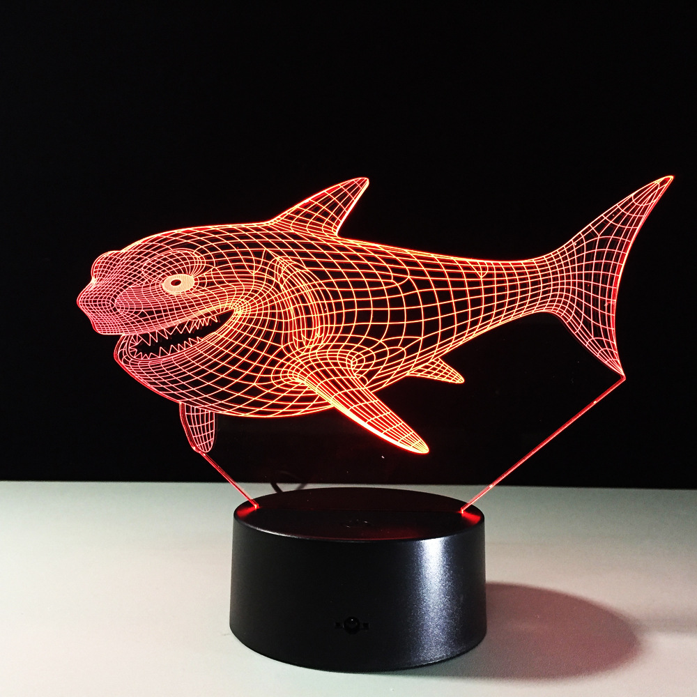 Billhead Shark 7 Color Changing Night Light Collectible Charizard 3d ...