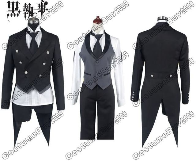 adult men black butler sebastian michaelis cosplay costume anime halloween costumes