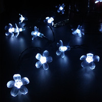 10M Rechargeable Batteries for Solar Lights Artificial Cherry Blossom Tree Wedding Party Garden Decoration Lamps Luces Solare