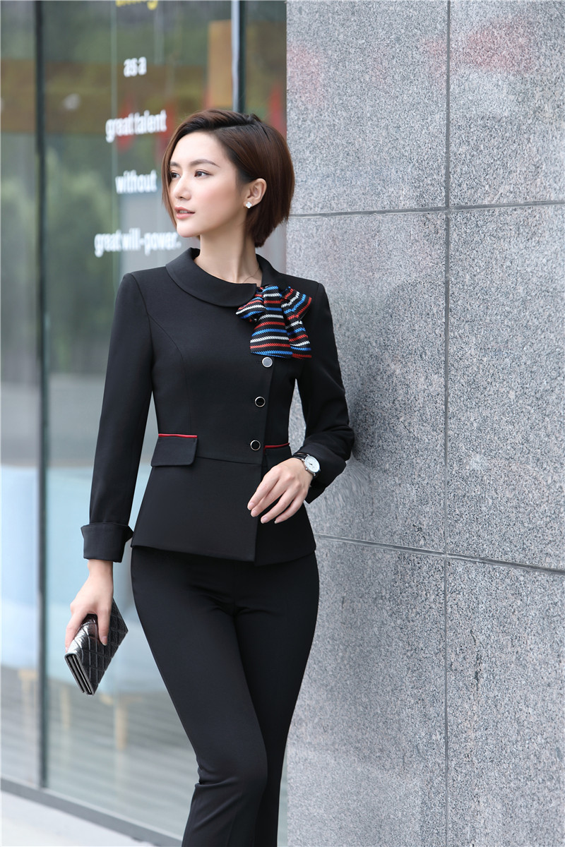 Black Blazer Women Business Suits Formal Office Suits Work Pant and ...