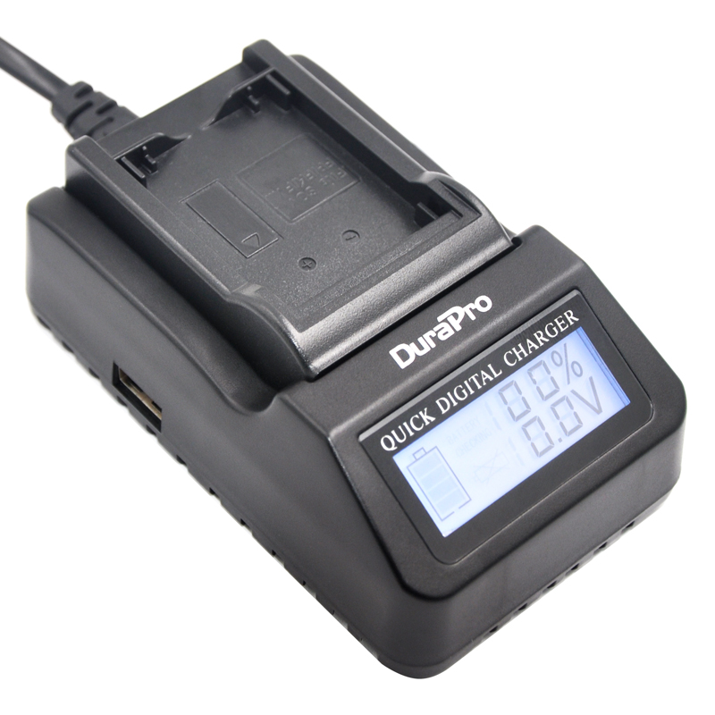 DuraPro Super Quick font b Charger b font for Sony NP FV100 NP FH100 NP FP90